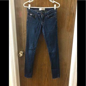 • Hollister Blue Skinny Jeans •